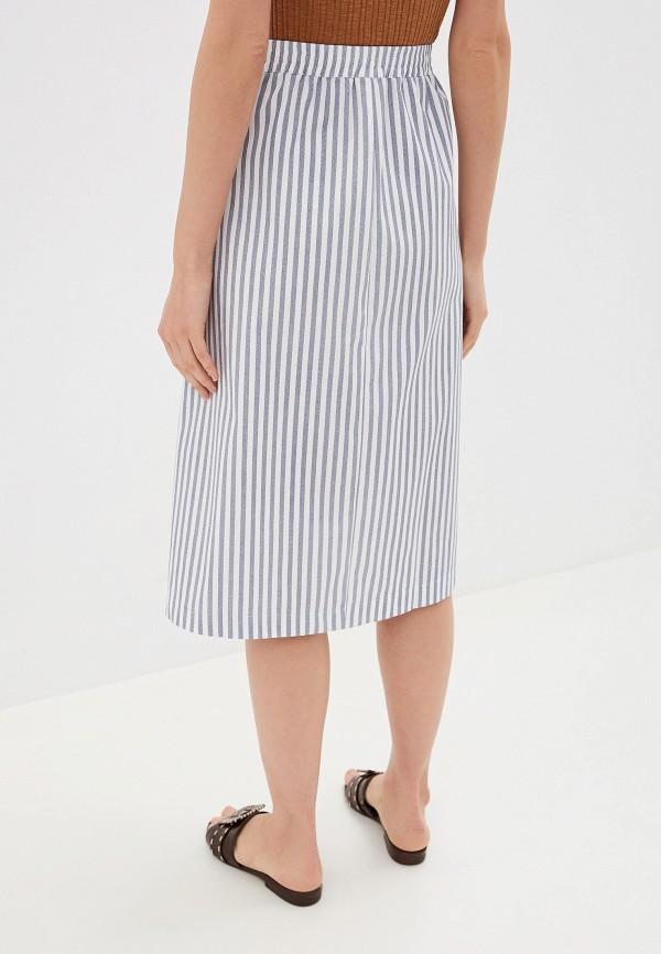 Фото 3 - женскую юбку b.young голубого цвета