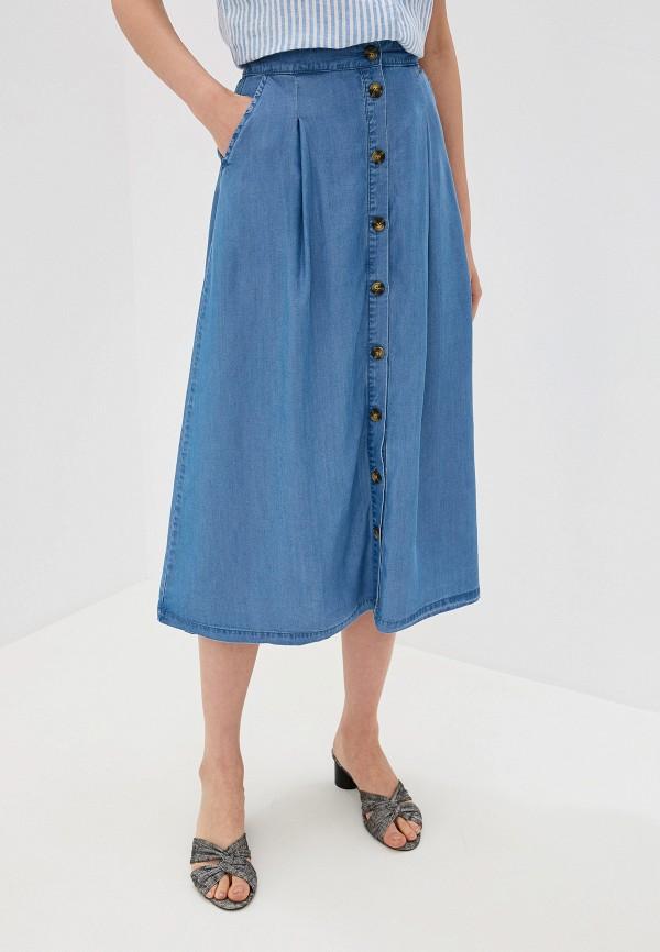 Фото - Юбку джинсовая b.young синего цвета