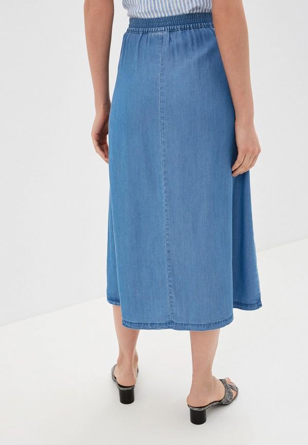Фото 3 - Юбку джинсовая b.young синего цвета