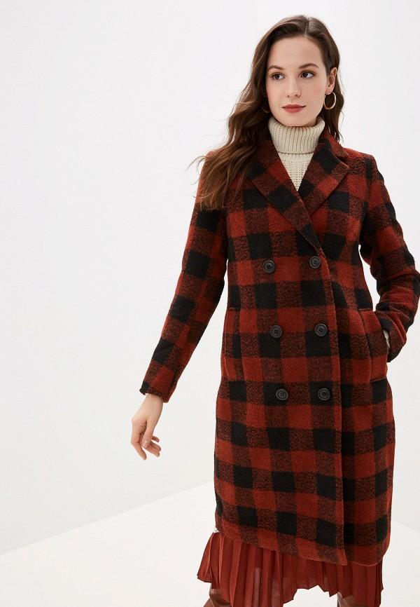 женское пальто b.young, коричневое