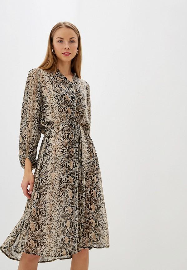 Купить Женское платье b.young бежевого цвета