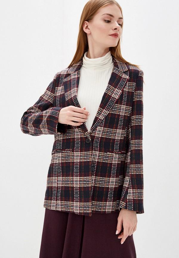 женский пиджак b.young, бордовый