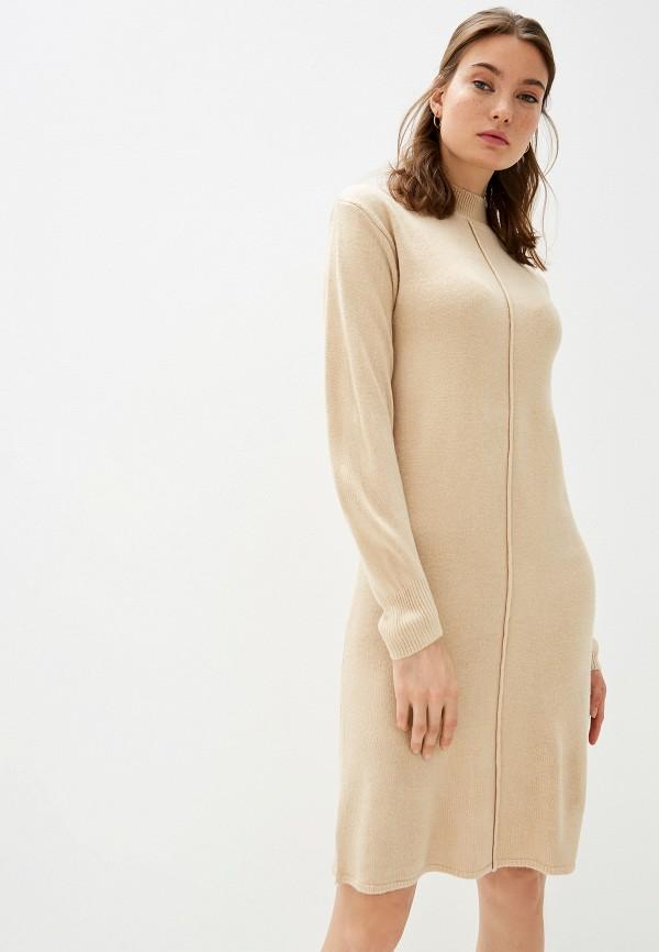 женское платье b.young, бежевое