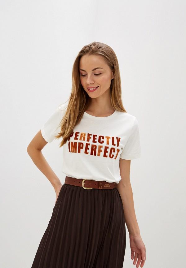 Купить Женскую футболку b.young белого цвета