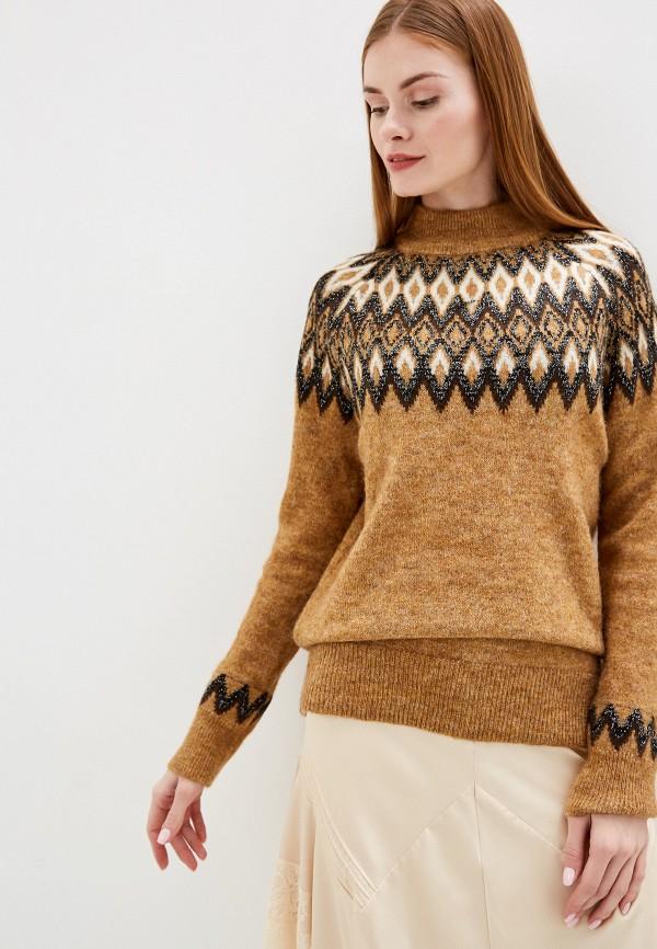 женский свитер b.young, коричневый