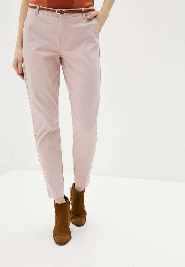 женские повседневные брюки b.young, розовые
