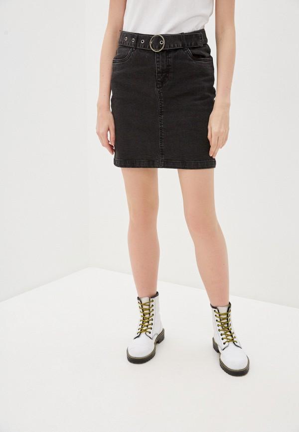 женская джинсовые юбка b.young, черная
