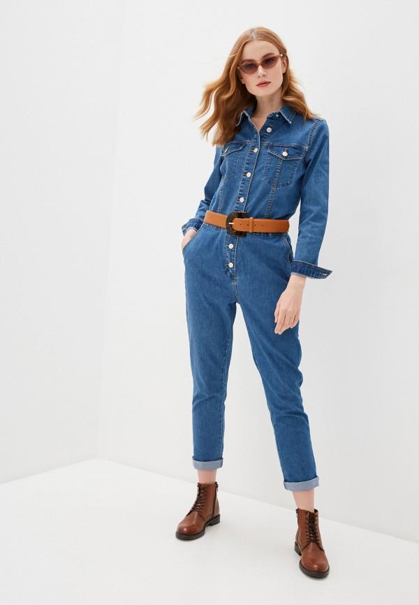 женский джинсовые комбинезон b.young, синий