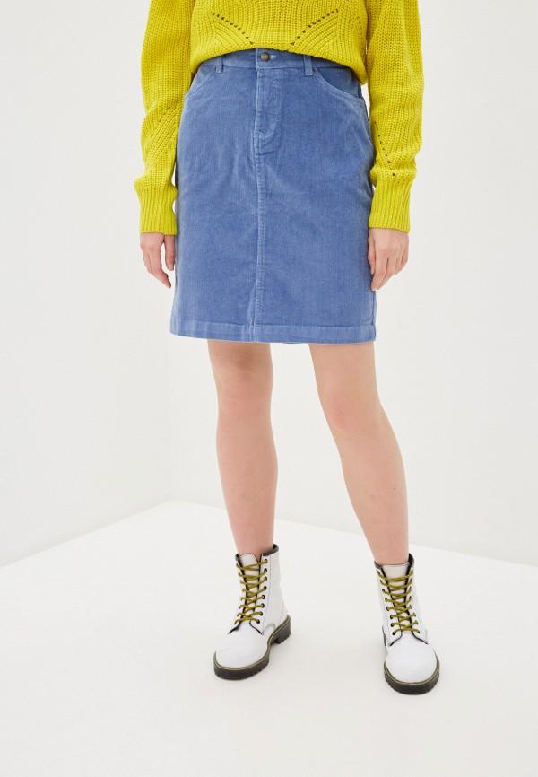 женская прямые юбка b.young, голубая