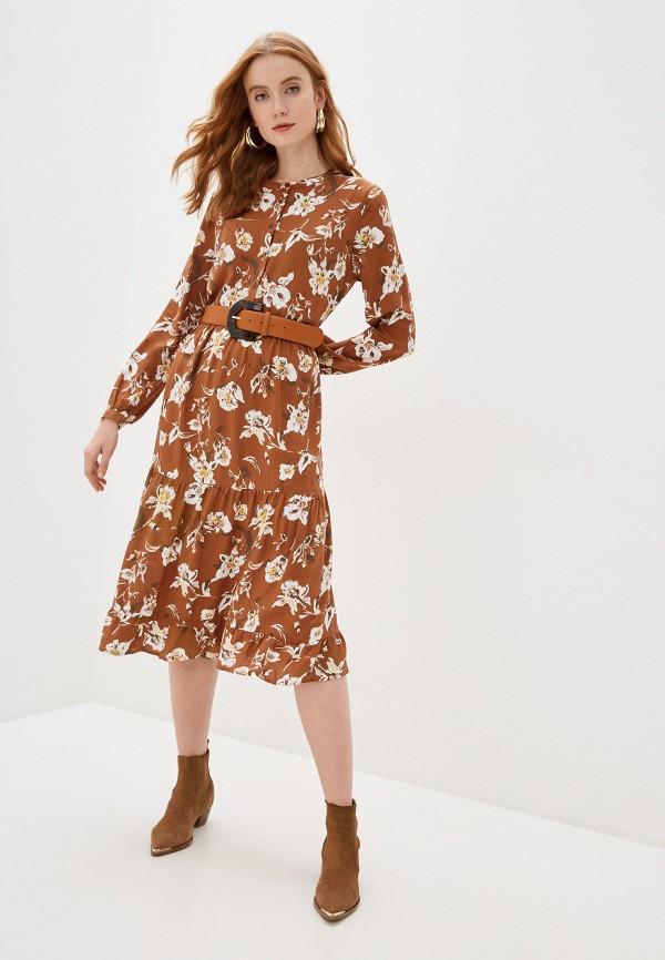 женское повседневные платье b.young, коричневое