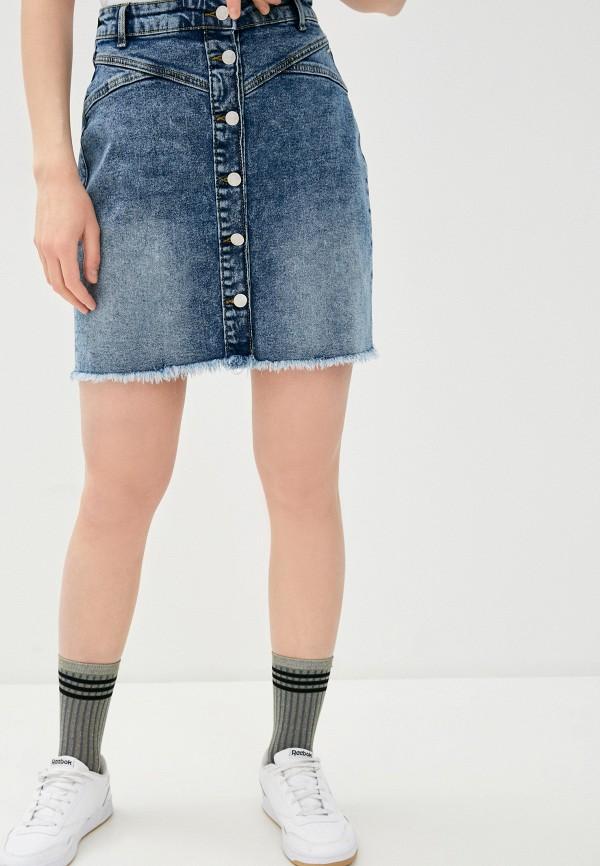 женская джинсовые юбка b.young, синяя