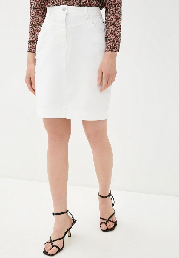 женская джинсовые юбка b.young, белая
