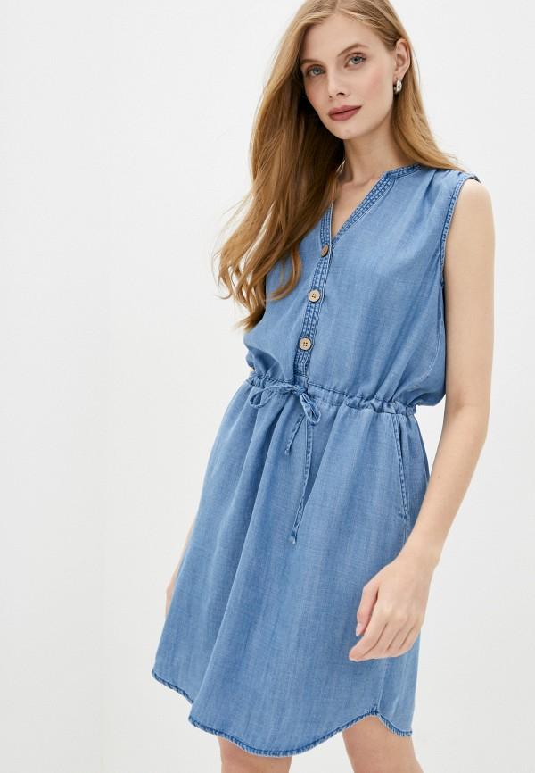 женское джинсовые платье b.young, синее