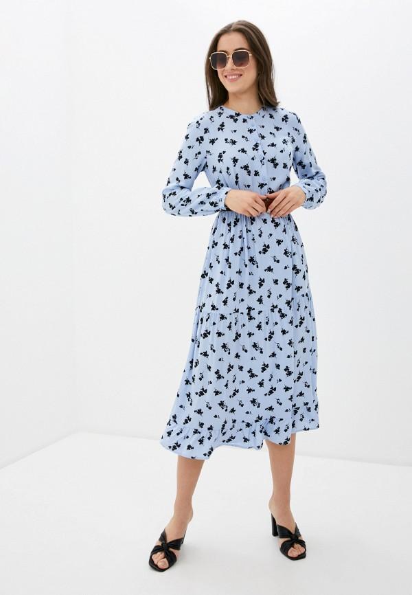 женское повседневные платье b.young, голубое
