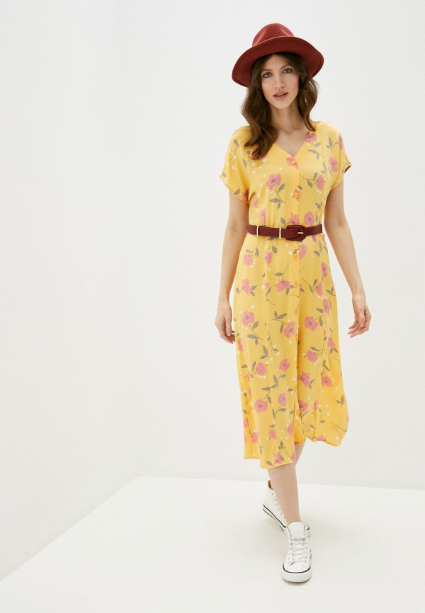 женское повседневные платье b.young, желтое
