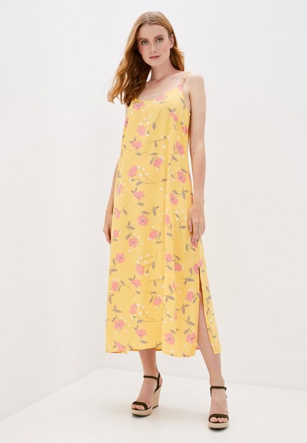 женское платье b.young, желтое