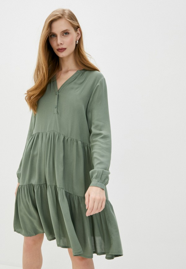 женское повседневные платье b.young, зеленое