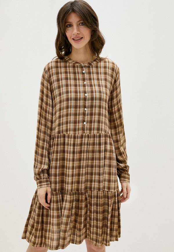 женское повседневные платье b.young, бежевое