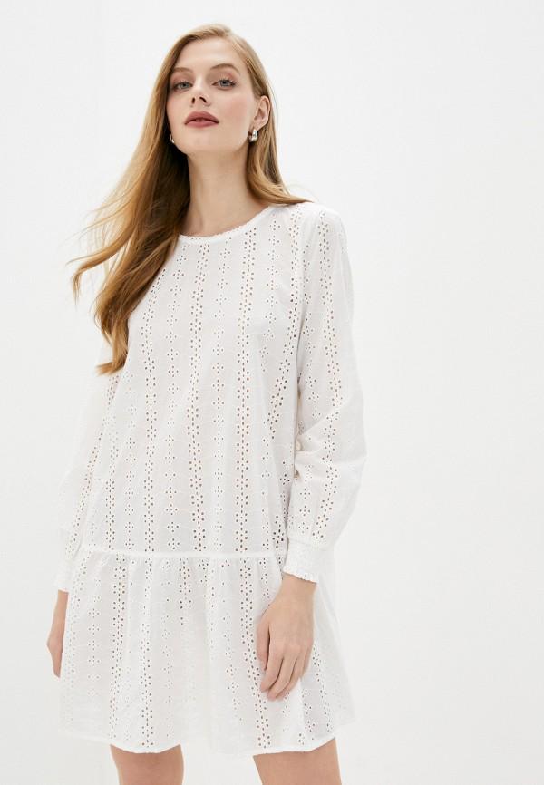 женское повседневные платье b.young, белое