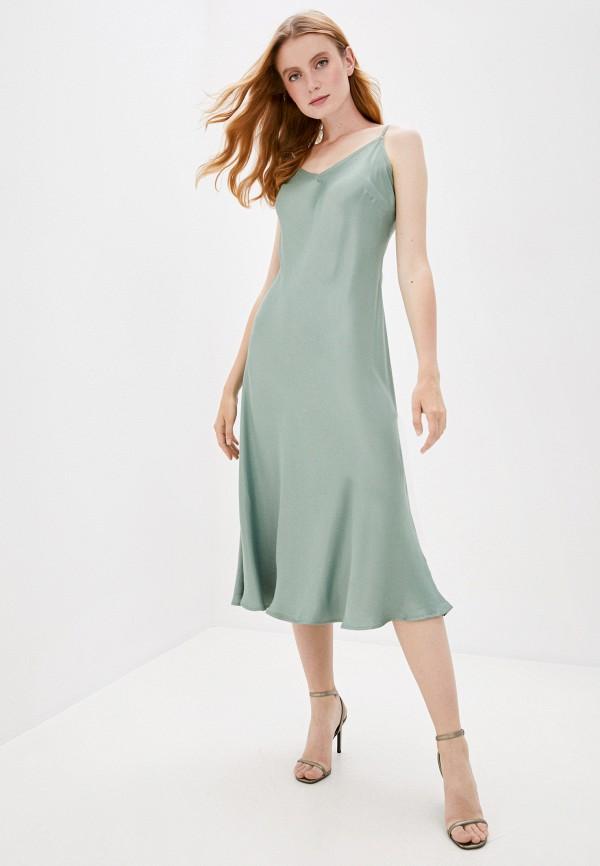 женское платье b.young, зеленое