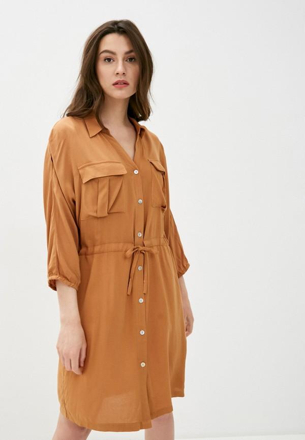 женское платье b.young, коричневое