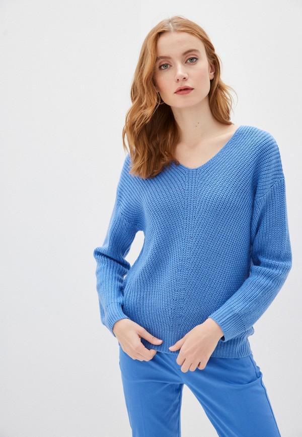 женский пуловер b.young, синий