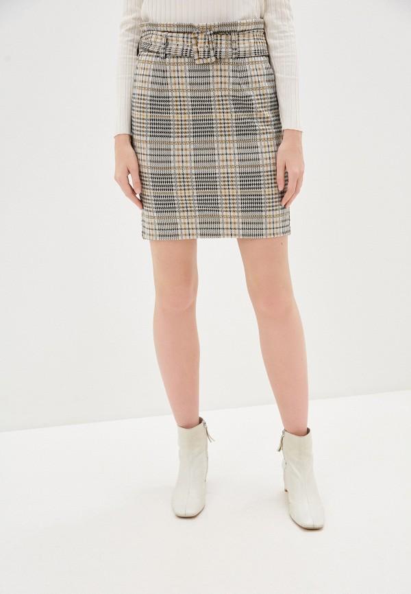 женская прямые юбка b.young, бежевая