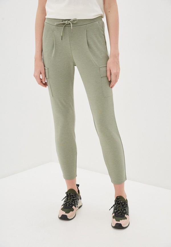 женские повседневные брюки b.young, зеленые