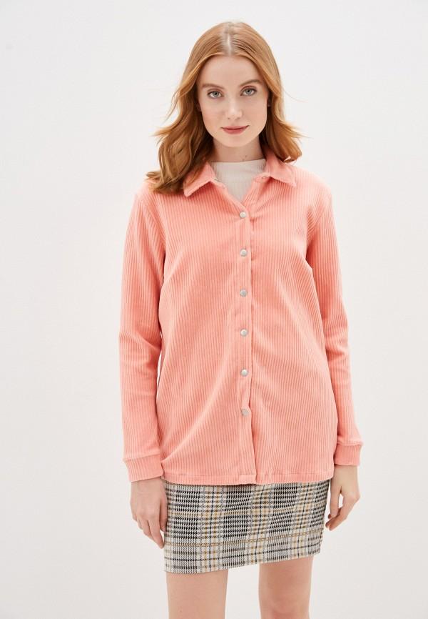 женская рубашка с длинным рукавом b.young, розовая