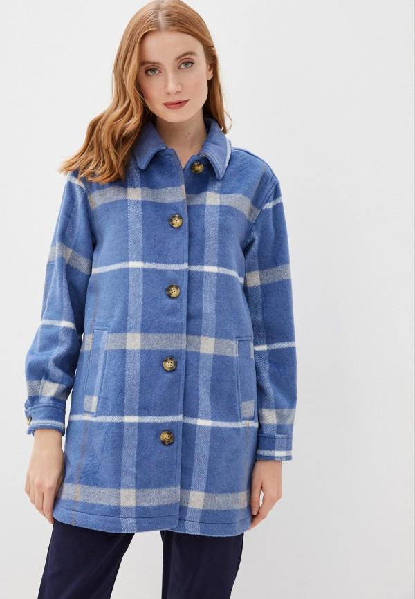 женское пальто b.young, голубое