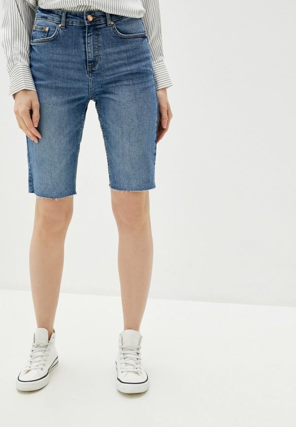 женские джинсовые шорты b.young, синие