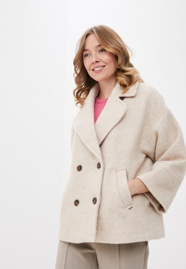 женское пальто b.young, бежевое