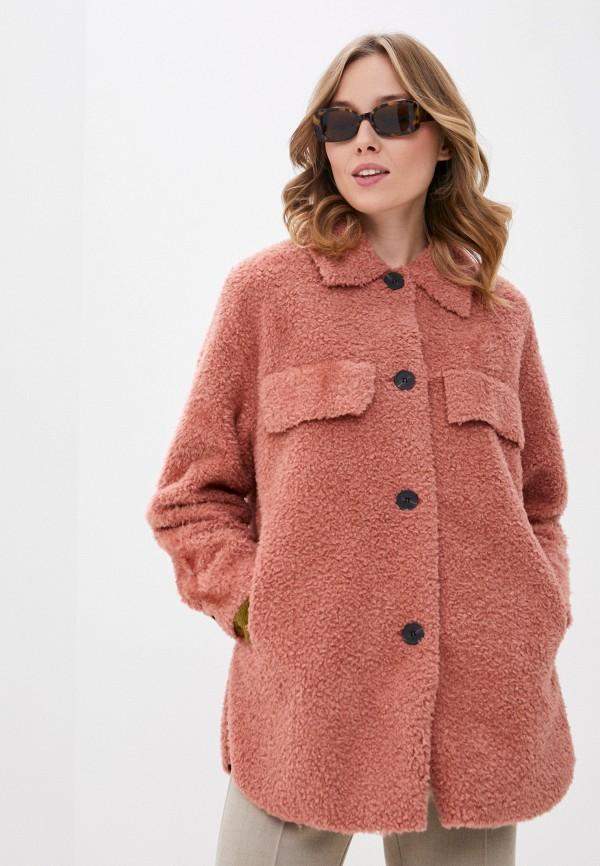 женское пальто b.young, розовое