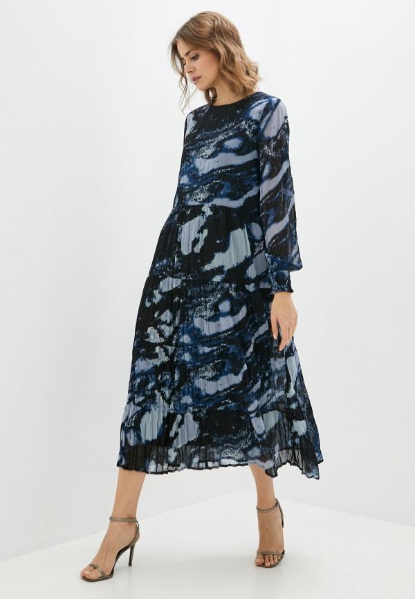 женское повседневные платье b.young, синее