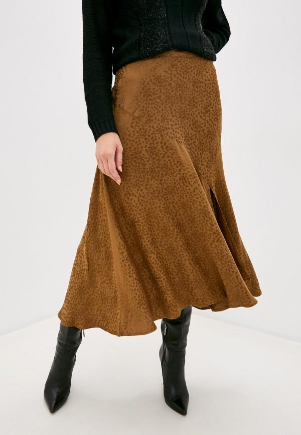 женская юбка b.young, коричневая