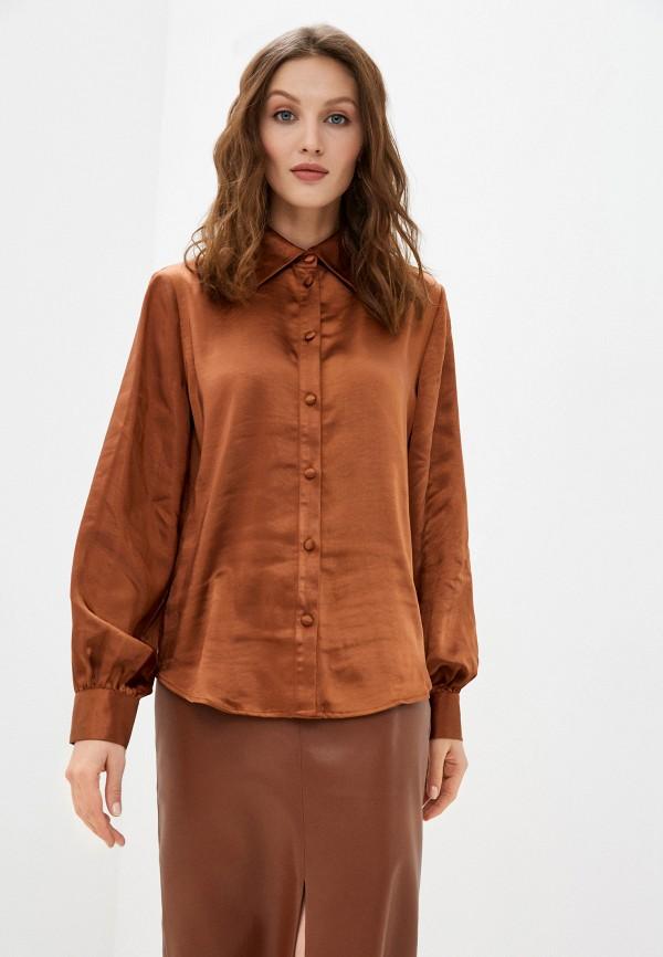 женская блузка b.young, коричневая
