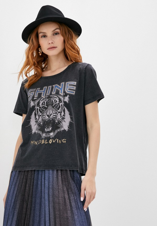 женская футболка b.young, серая