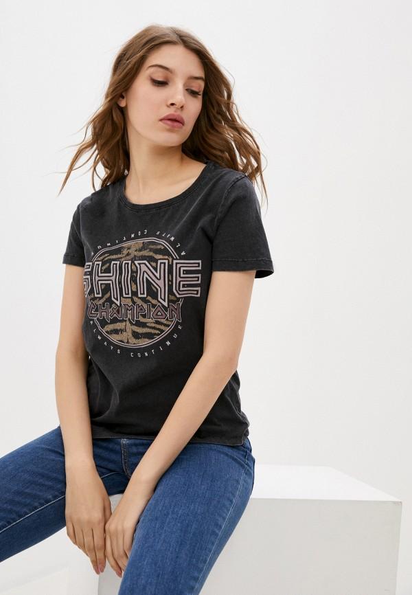женская футболка b.young, черная