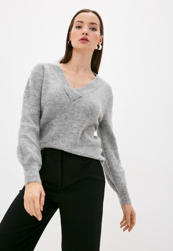 женский пуловер b.young, серый
