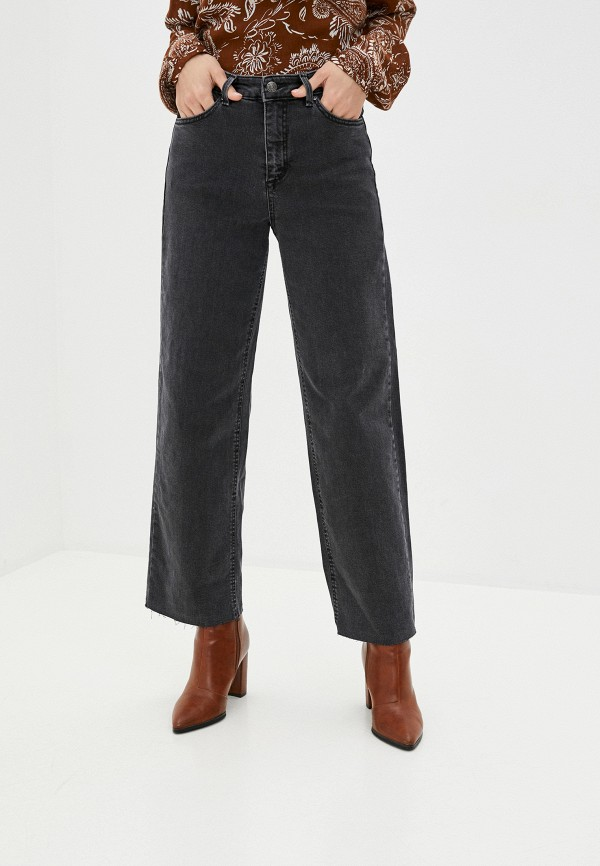 женские джинсы клеш b.young, серые