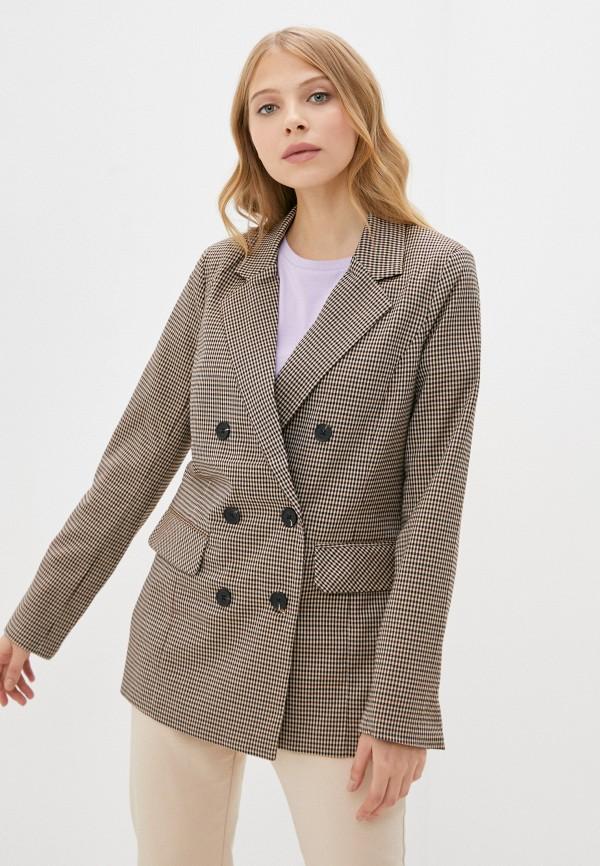 женский пиджак b.young, коричневый