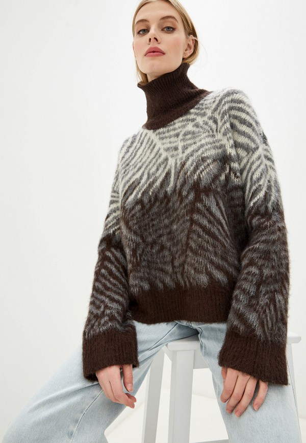 женский свитер by malene birger, коричневый