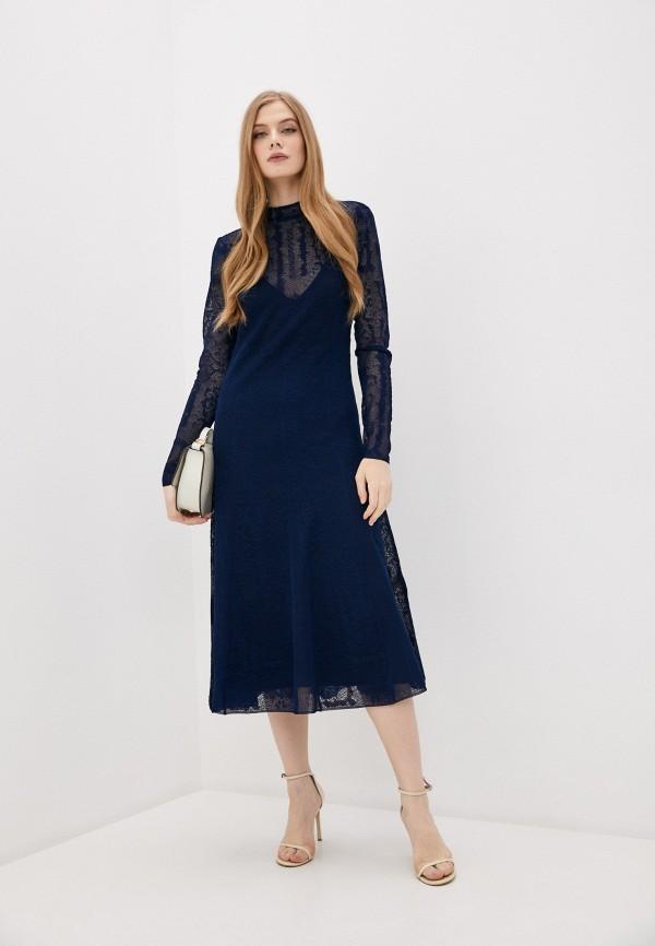 женское вечерние платье by malene birger, синее
