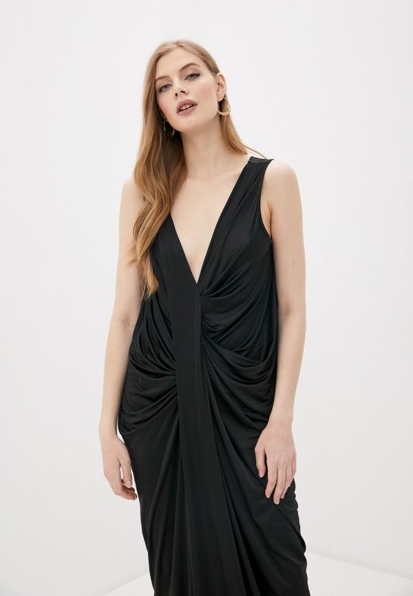 Фото 2 - Женское вечернее платье By Malene Birger черного цвета