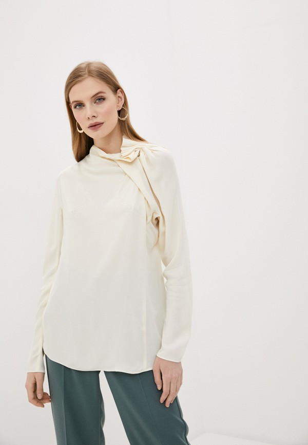 женская блузка by malene birger, бежевая