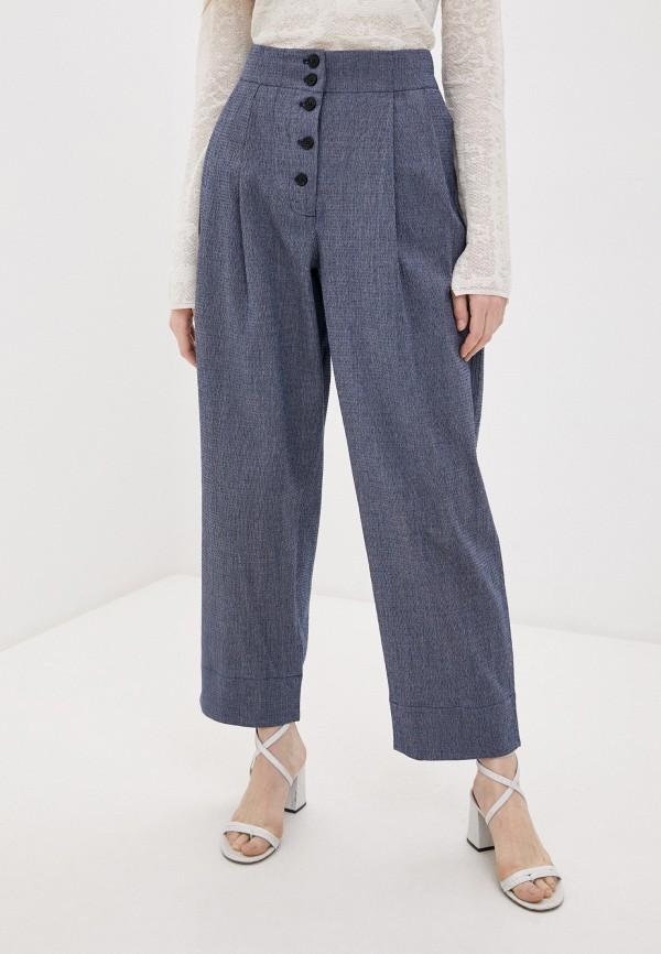 женские повседневные брюки by malene birger, синие