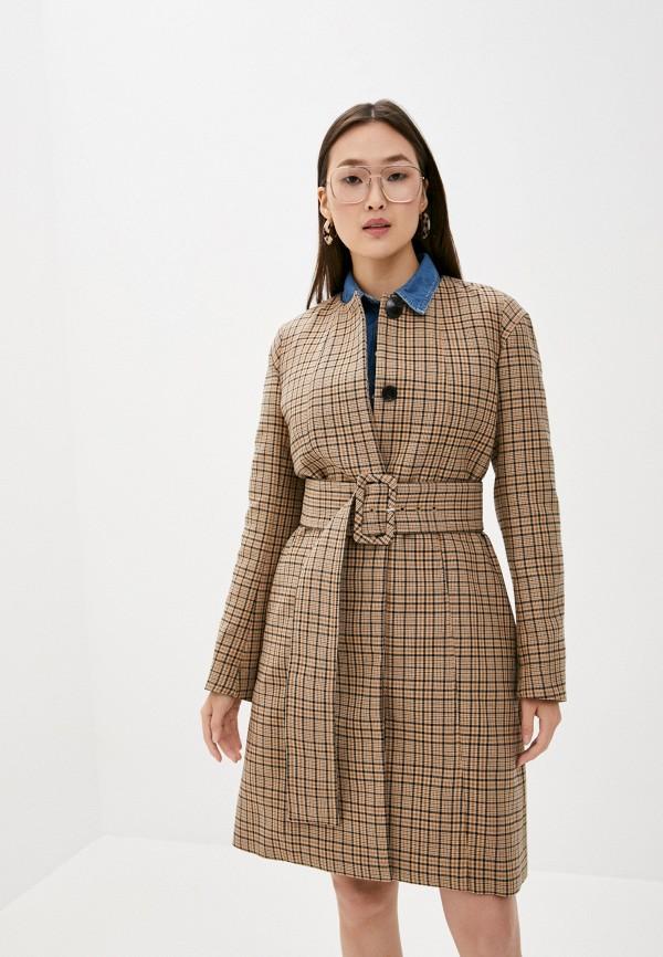 женское пальто by malene birger, бежевое