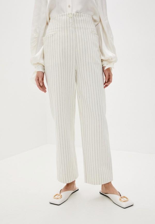 женские повседневные брюки by malene birger, белые
