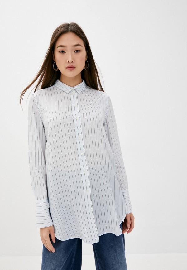 женская блузка by malene birger, голубая