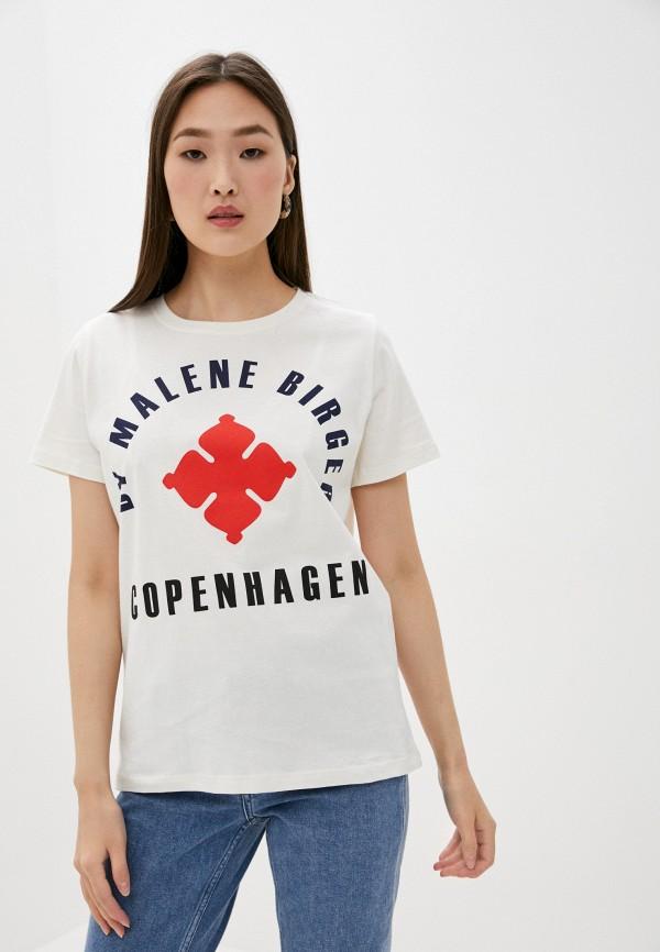 женская футболка by malene birger, белая